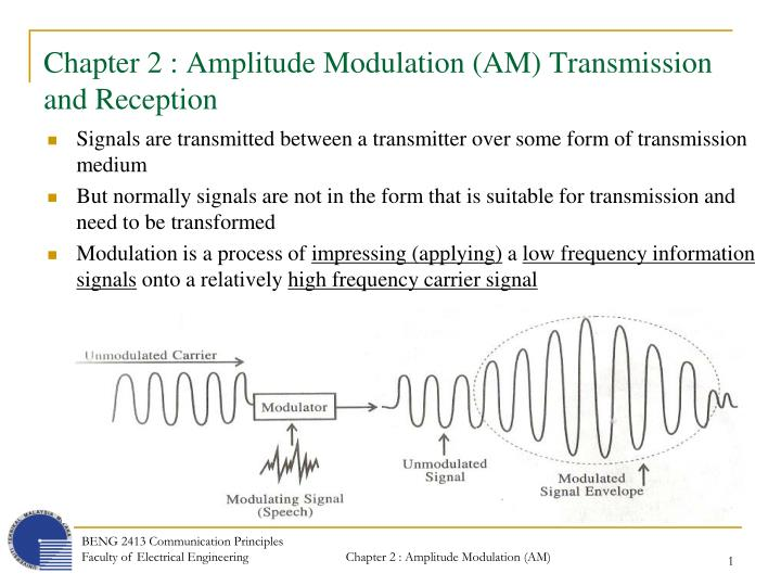 chapter 2 amplitude modulation am transmission and reception n.