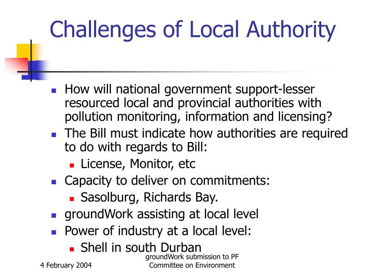 Challenges of Local Authority