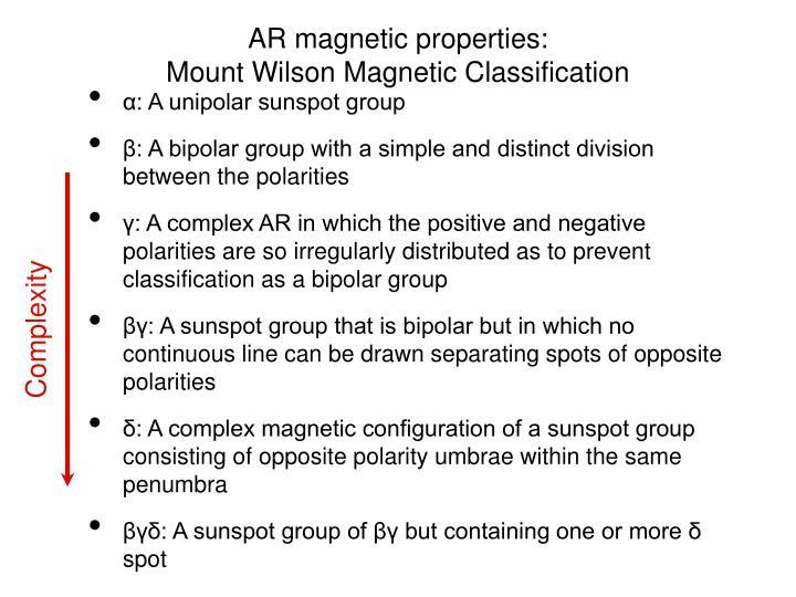 AR magnetic properties: