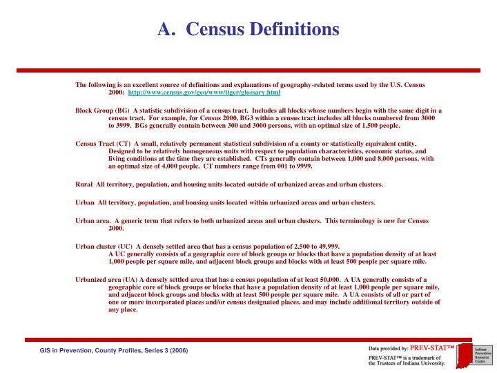 a census definitions n.