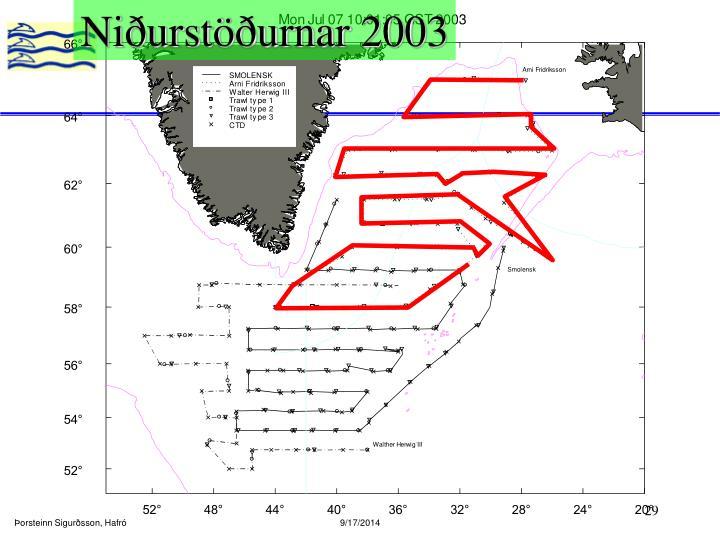 Niðurstöðurnar 2003