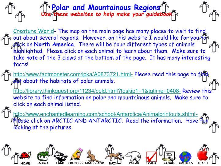 Polar and Mountainous Regions