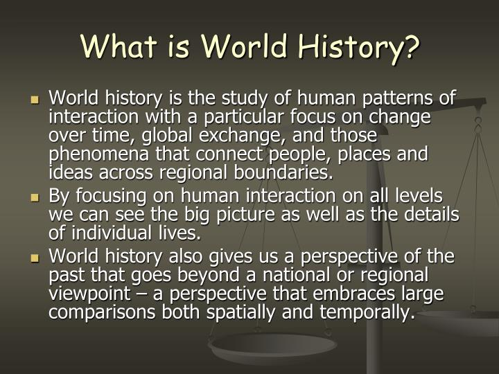 What is world history