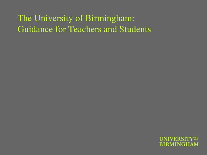 The University of Birmingham: