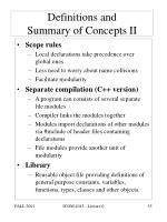 definitions and summary of concepts ii