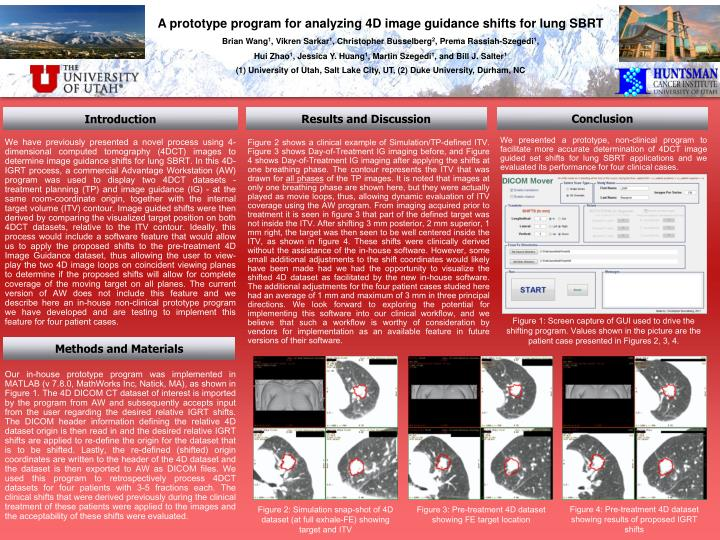 A prototype program for analyzing 4D image guidance shifts for lung SBRT