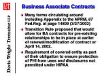 business associate contracts