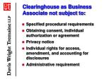 clearinghouse as business associate not subject to