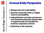 covered entity perspective