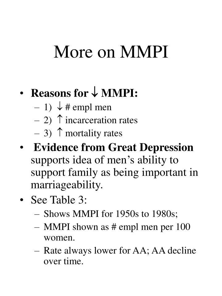 More on MMPI