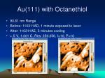 au 111 with octanethiol9