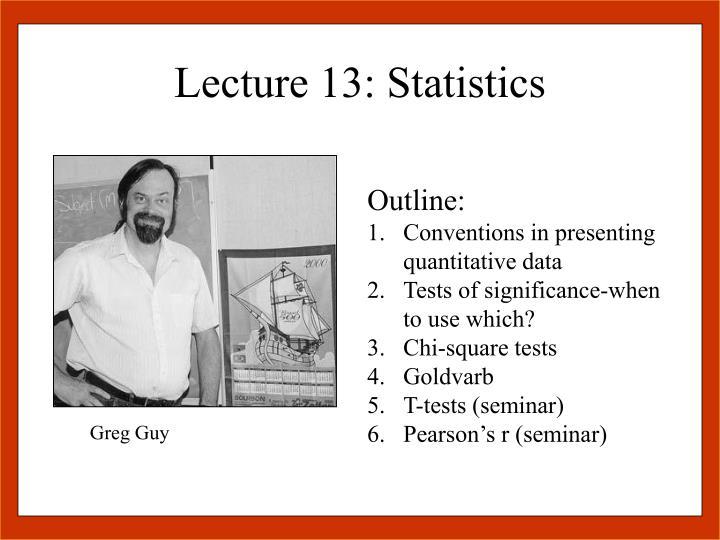 Lecture 13 statistics1