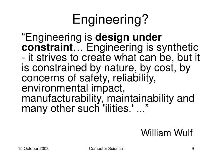Engineering?