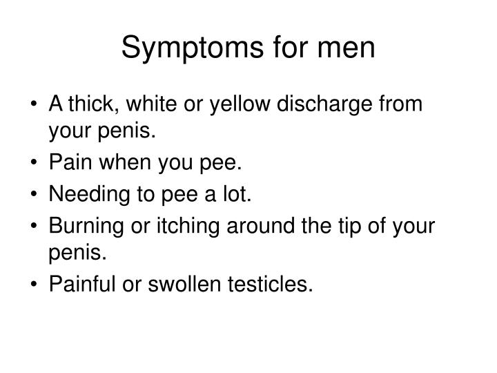 Symptoms for men