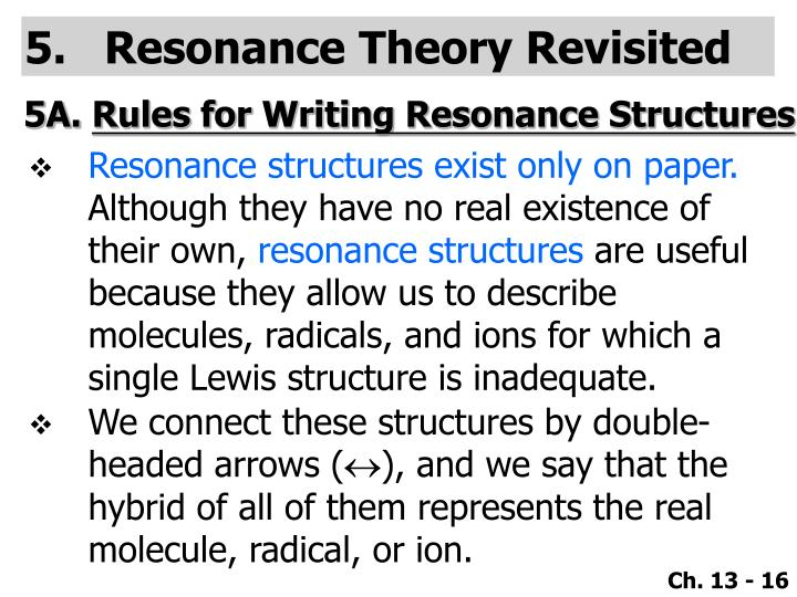 Resonance Theory Revisited
