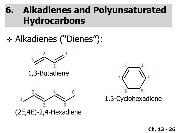 Alkadienes and Polyunsaturated