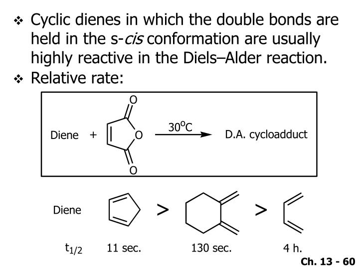 Cyclic dienes in which the double bonds are held in the s-