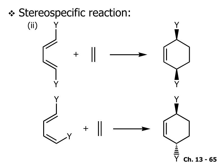 Stereospecific reaction: