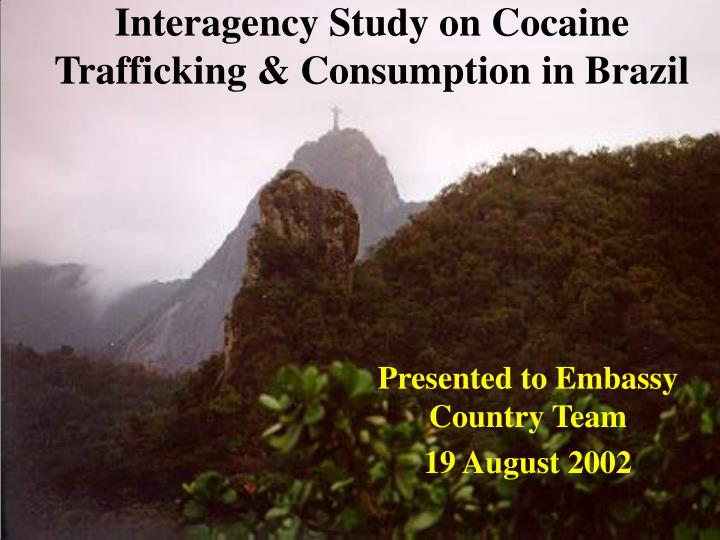 interagency study on cocaine trafficking consumption in brazil n.
