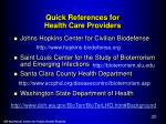 quick references for health care providers