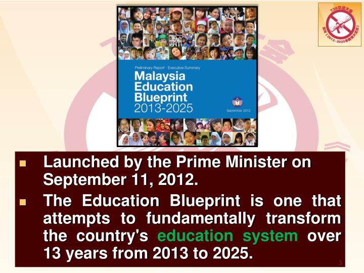 Ppt the impact of the malaysia education blueprint 2013 2025 the education blueprint is one that attempts to fundamentally transform the countrys education system over 13 years from 2013 to 2025 malvernweather Images