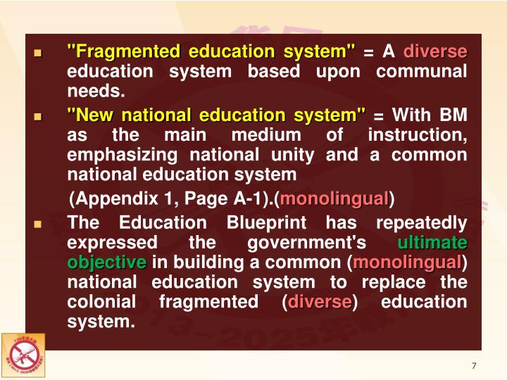 Ppt the impact of the malaysia education blueprint 2013 2025 fragmented education system a diverse education system malvernweather Images