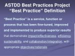 astdd best practices project best practice definition