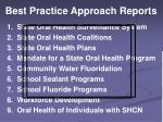 best practice approach reports