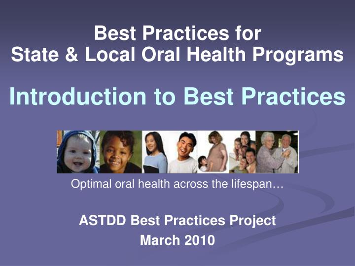 best practices for state local oral health programs n.