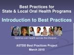 best practices for state local oral health programs