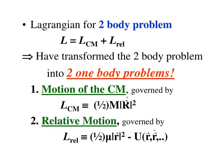 Lagrangian for