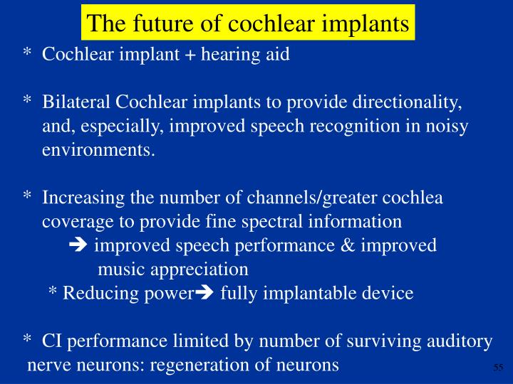 The future of cochlear implants