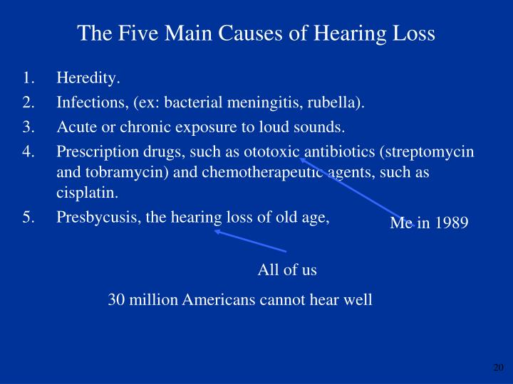The Five Main Causes of Hearing Loss