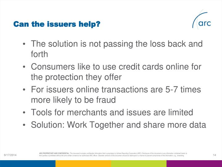 Can the issuers help?