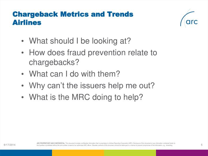 Chargeback Metrics and Trends