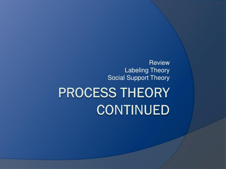 an analysis of the labeling theory and its policy implication Becker (1963) acknowledges that his labeling theory is a theoretical approach, not a true theory, and that sociologists should attempt to establish empirical tests for his approach another major criticism of labeling theory is its failure to explain primary deviance (wwwmpccccneus.