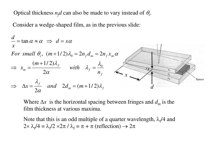 Optical thickness