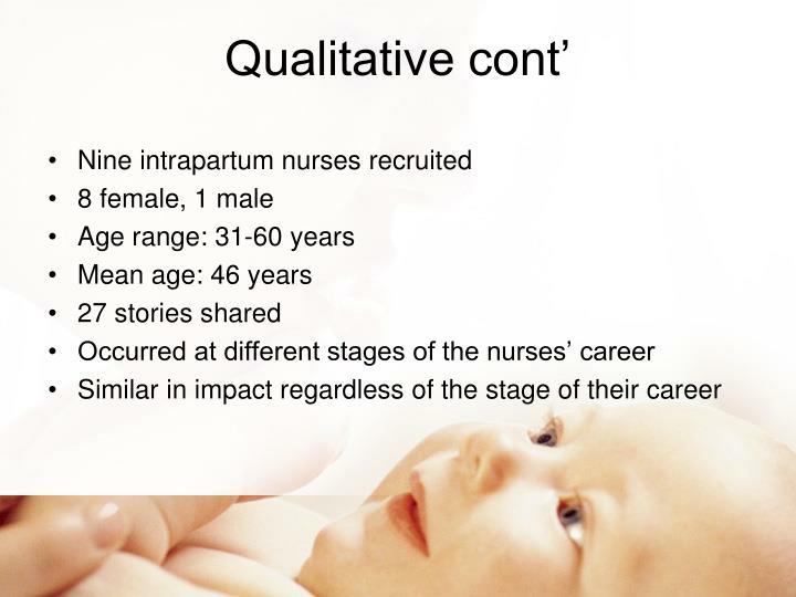 Qualitative cont'