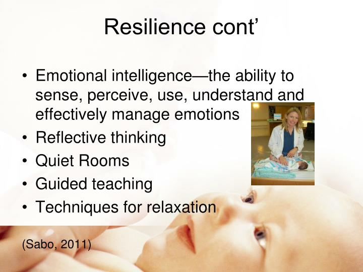 Resilience cont'