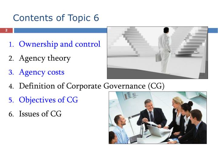 Contents of topic 6
