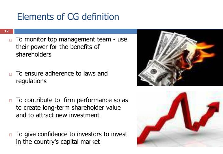Elements of CG definition