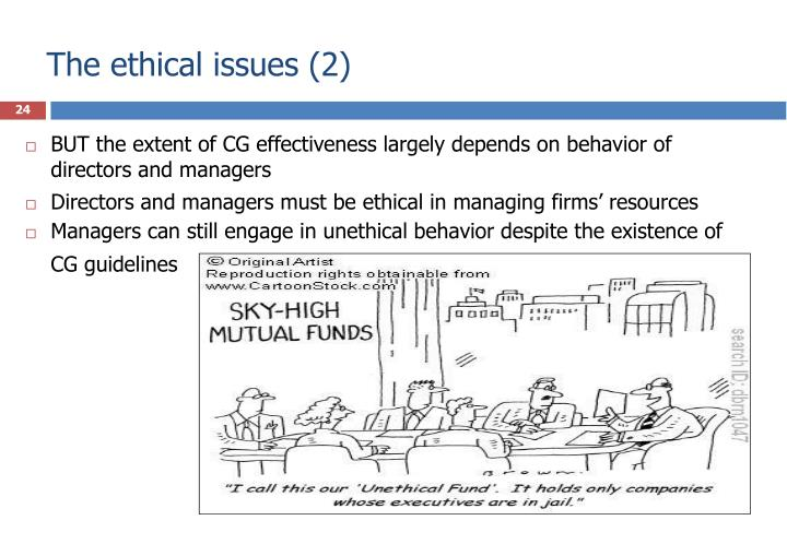 The ethical issues (2)