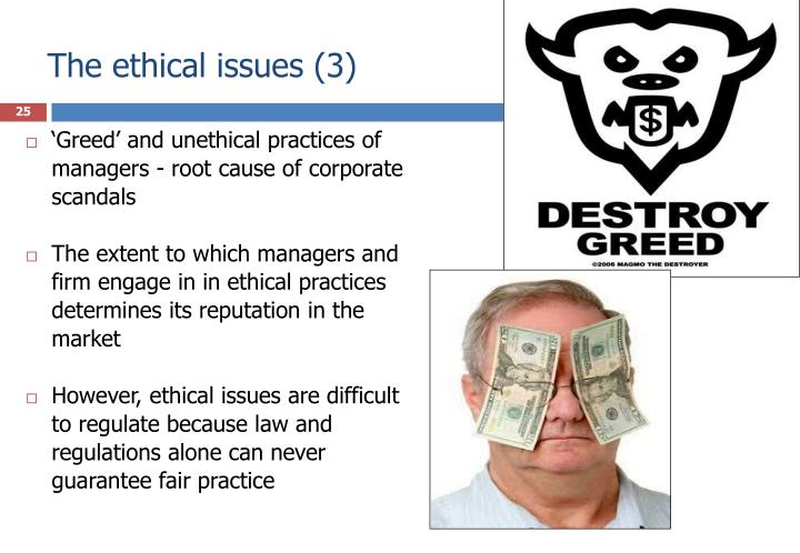 The ethical issues (3)