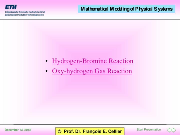 Hydrogen-Bromine Reaction
