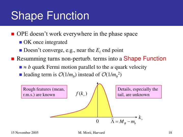 Shape Function