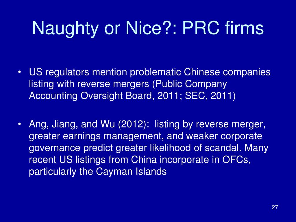 PPT - Incorporation in Offshore Financial Centers: Naughty