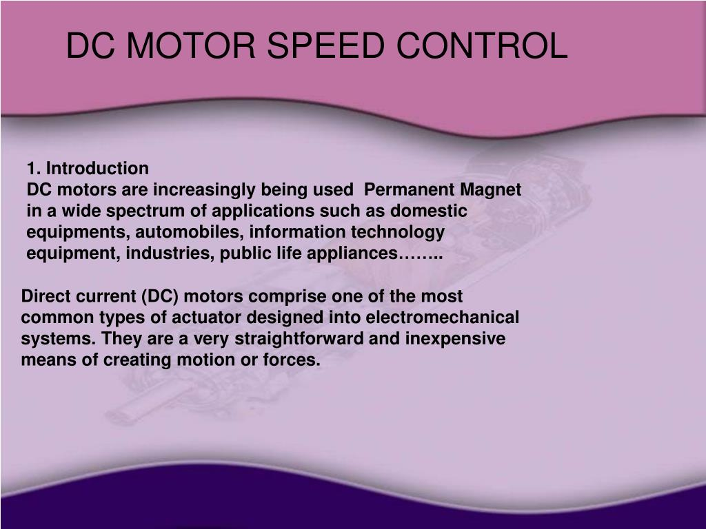 Ppt Dc Motor Speed Control Powerpoint Presentation Id4493553 Motors And Stepper Used As Actuators Slide1 N