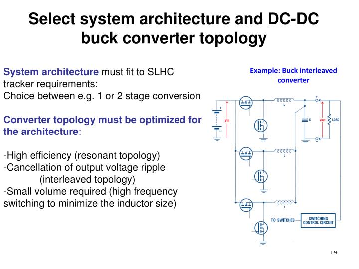 Select system architecture and DC-DC buck converter topology