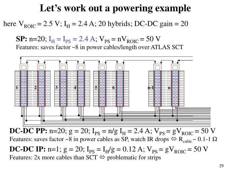 Let's work out a powering example