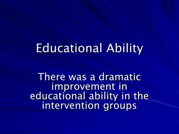 Educational Ability